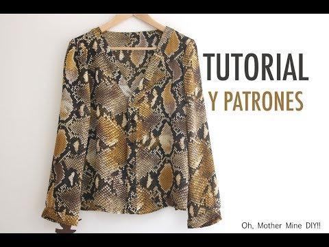 Aprender a coser: Blusa de mujer (patrones gratis en varias tallas)