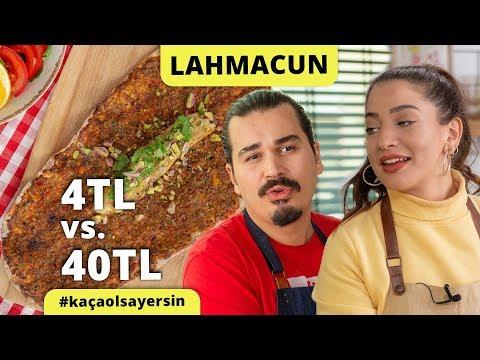 Şeflerimiz Yaptı: Tanesi 4 Liraya Lahmacun vs. 40 Liraya Lahmacun Tarifi #kaçaolsayersin