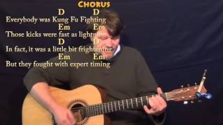 Kung Fu Fighting (Carl Douglas) Strum Guitar Cover Lesson with Chords/Lyrics