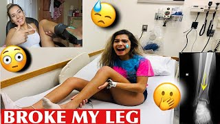 I BROKE MY LEG *NOT CLICKBAIT*