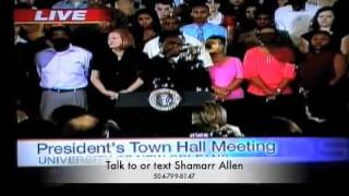 Shamarr Allen Plays National Anthem for President Obama