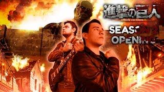 Attack on Titan Season 2 Opening Shinzou wo Sasageyo! 【Español Latino】 ft. Laharl Square