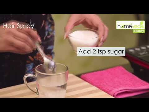 Make Natural Hair Spray Within 30 Seconds| Easy Home Remedies - Homeveda