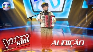 Thomas Machado canta 'Beijinho Doce' na Audição – The Voice Kids Brasil | 2ª Temporada