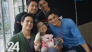 "24 Oras: ""Meant To Be"" leading men, sinorpresa si Barbie Forteza ng iba't ibang Valentine's gift"