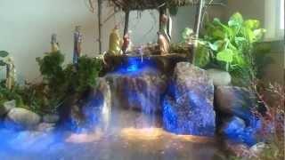 El nacimiento de navidad (pesebre) mas real con cascada natural hecho en un dia
