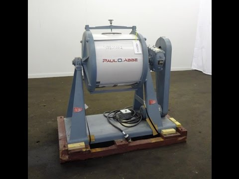 Used- Paul O Abbe Ball Mill, 40 Liter (10.5 Gallon) Capacity, Carbon Steel. - stock # 48801002