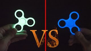 DIY fidget spinner VS factory glowing in the dark