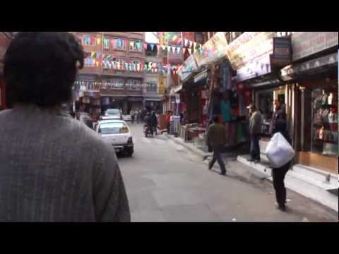 Driving through Kathmandu