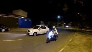Rodrigo90 Z750 Branca - Passando a miiil por hora de moto.... VISAO DO PEDESTRE kkk
