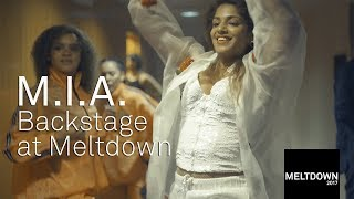 M.I.A. backstage at Meltdown