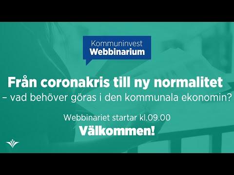 Webbinarium: Från coronakris till ny normalitet – vad behöver göras i den kommunala ekonomin?