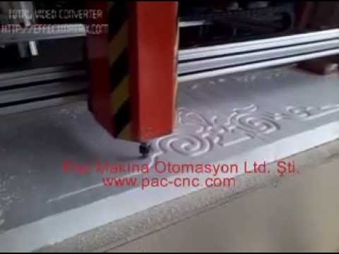 Pac Makina Cnc Strafor Router.mpg(0532 498 67 89)