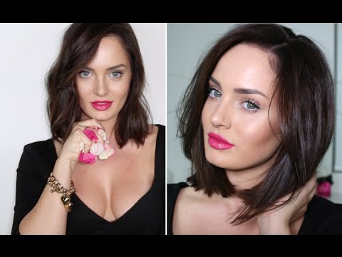 Creamy Skin, Rock Hair & Rose Lips / CELEBRITY INSPIRED LOOK!