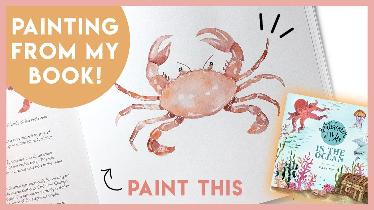 WATERCOLOR WITH ME: In The Ocean - Crab Painting Tutorial