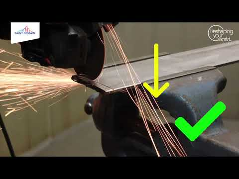 How to prevent bluing and burrs when cutting with an angle grinder