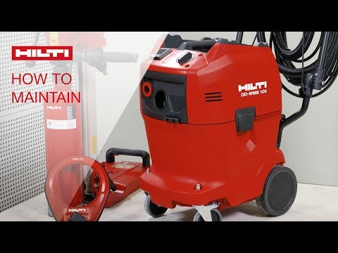 HOW TO clean and maintain your Hilti DD WMS 100 water management system