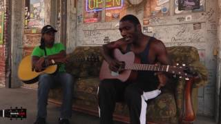 Cedric Burnside Trying Out His New Martin On The Source: LIVE