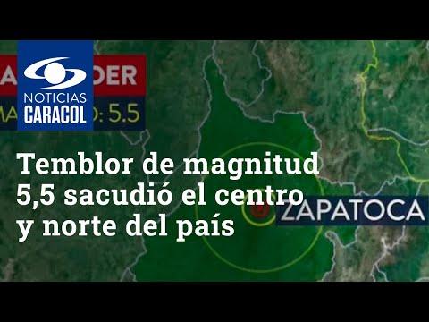 Temblor de magnitud 5,5 sacudió el centro y norte del país