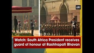 Watch: South Africa President receives guard of honour at Rashtrapati Bhavan