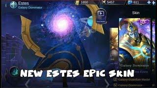 NEW SICK ESTES EPIC SKIN | GALAXY DOMINATOR | Mobile legends