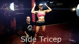 """""""Side Tricep"""" Kenny Wallach and IFBB Pro Gloria Faulls"""