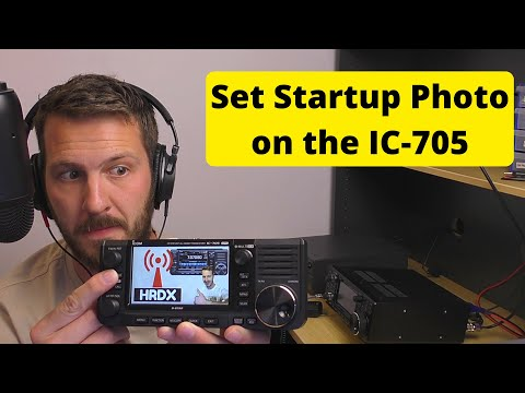 How to set an Opening Picture on the Icom IC-705