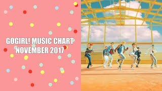 GOGIRL! MUSIC CHART NOVEMBER 2017