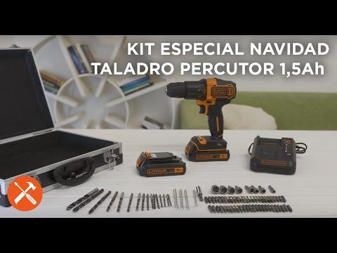 Taladro percutor 18V 1.5Ah Litio - Kits Navidad 2016 - BLACK+DECKER
