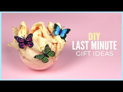 5 Easy Last Minute DIY Gift Ideas Everyone Can Make in 5 Minutes for Birthday or Christmas!