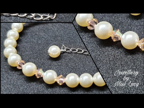 """Silk Pearls"" Bracelet - Handmade Swarovski Jewellery"
