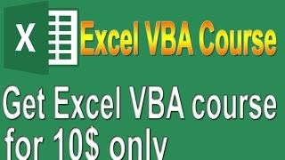Excel VBA on Udemy for only 10 $  :)