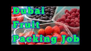 job in Dubai 513, Urgently require helper for fruit packing in Dubai