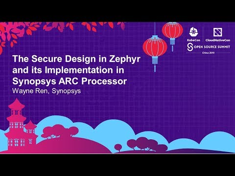 The Secure Design in Zephyr and its Implementation in Synopsys ARC Processor