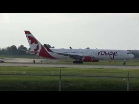 Air Canada Rouge Boeing 767-333/ER Taxi + Takeoff 24L CYUL Montreal