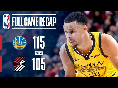 Full Game Recap: Warriors vs Trail Blazers | Steph & Klay Lead Warriors In Portland
