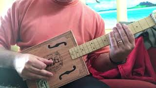 Freebird slide intro with cigar box guitar