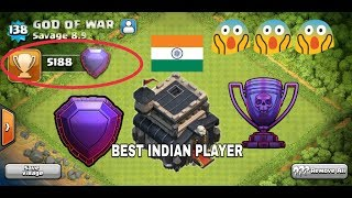 Indians Dominating Over Clash Of Clans    Best TH9 Indian Players    Legendary League    2017