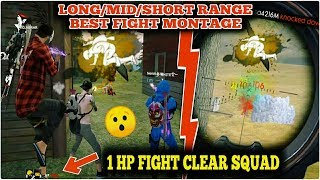 FREE FIRE BEST LONG MID & SHORT RANGE FIGHT//GAMINGWITHNAYEEM FREE FIRE !!!