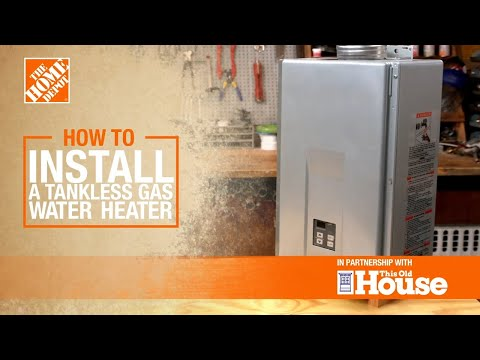 How to Install a Tankless Gas Water Heater