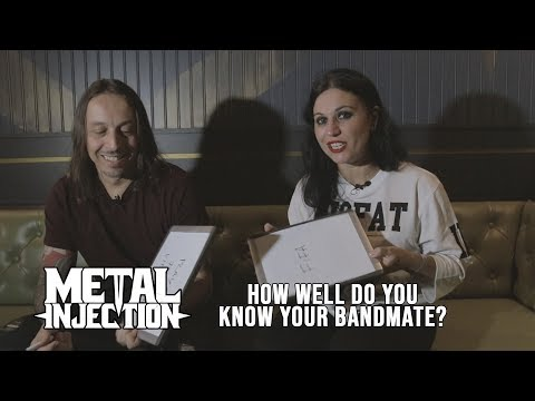 """LACUNA COIL Plays """"How Well Do You Know Your Bandmate?""""   Metal Injection"""