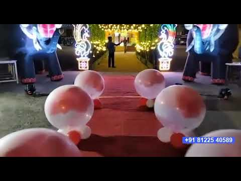 Inflatable Elephant | Balloon Entry | Digital Wedding +91 81225 40589