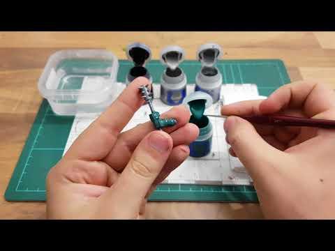 Toturial:Miniaturen bemalen für Anfänger german HD ★ Kratzer auf Rüstungen malen ★ How to paint