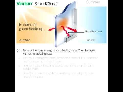 How Viridian SmartGlass (Low-E energy efficient glass) works
