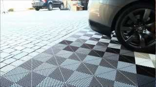 Install Vented Xl Modular Garage Tiles, Motofloor Modular Garage Flooring Tiles