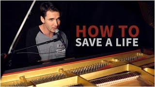 """The Fray - """"How To Save A Life"""" (Corey Gray - Piano Cover) - Official Music Video"""