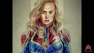 Captain Marvel (Brie Larson) | Speed Drawing