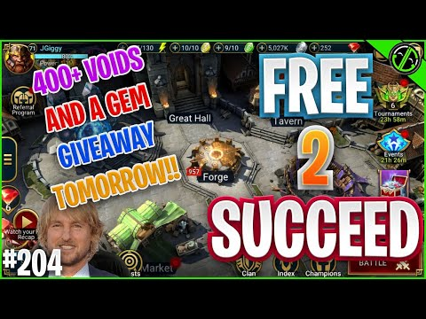 400+ VOID SHARD LIVE STREAM ANNOUNCEMENT! And Also, We RAN CvC Baby!! | Free 2 Succeed - EPISODE 204