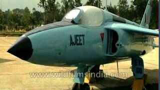 Air to ship missiles on Indian fighter jets and Ajeet trainer at Avia Air Show Ceremony in Bangalore