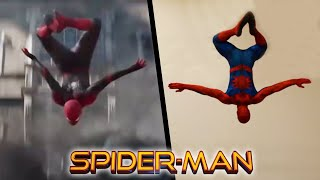 Stunts From All Spiderman In Real Life (Endgame, Far From Home)